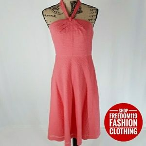 J. Crew | Embossed Cotton Aubrey Halter Dress (L)
